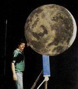 Ray Gilberti with the Moon maquette