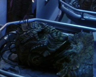 Damron's body in <i>Enterprise</i>'s morgue