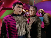 Romulan commander and Centurian