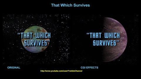 """TOS """"That Which Survives"""" - """"Les survivants"""" - comparaison des effets spéciaux"""