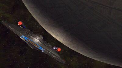 Enterprise bei einer Delphische Sphäre