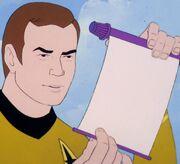 Kirk reads warant