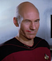 Picard with lipstick