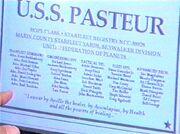 USS Pasteur dedication plaque