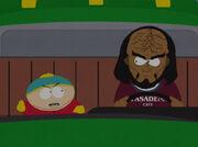 Cartman und Michael Dorn