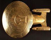 Enterprise-D golden display model