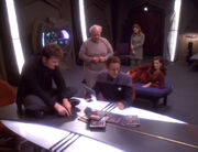 Jack, Lauren, Patrick, Sarina, Bashir analyze Starfleet reports