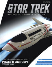 Star Trek Official Starships Collection USS Enterprise Shuttlecraft Phase II Concept cover