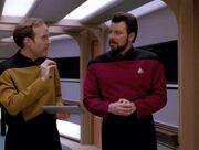Barclay verwirrt Riker