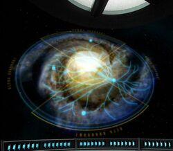 Galaxys transwarp conduits and hubs
