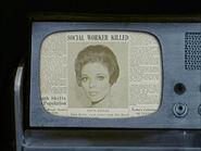 Wächter der Ewigkeit, Zeitungsausschnitt Edith Keelers Tod 1