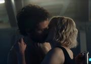 Agnes kisses Chris