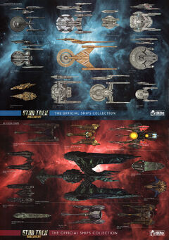 Eaglemoss Official Starships Collection Scale Charts