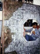 Greg Jein with Dyson sphere model