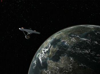 Troyius from orbit