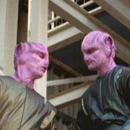 Alien pink-skinned workers