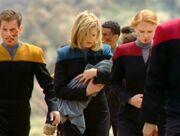 Crew auf dem Hanon-Planet