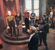 Filming the first trial scene