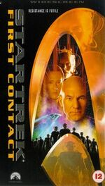 First Contact 1998 UK VHS widescreen cover