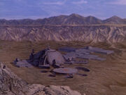 Relva VII matte painting's original appearance as Aldebaran II in Buck Rogers in the 25th Century