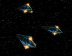 Tholian starship aft, Future Tense