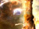 Type 6 shuttle struck by discharge from class 1 nebula