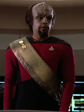 "<a href=""/wiki/Lieutenant_junior_grade"" title=""Lieutenant junior grade"">Lieutenant junior grade</a> Worf (2364)"