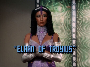 Elaan of Troyius title card