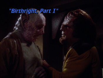 Birthright, Part I title card
