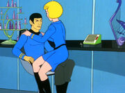 Chapel on Spock's lap