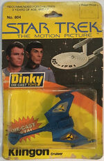 Dinky no 804 Klingon Cruiser UK rectangular blister