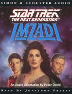 Imzadi audiobook cover, UK cassette edition