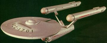USS Enterprise three foot model three-quarter ventral view
