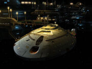 USS Voyager at the Markonian outpost