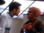Bashir discovers Quark's plan to drug him