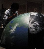 Earth Studio model prepared by ILM staffer Frank Ordaz