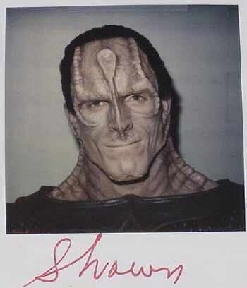 Shawn on a makeup continuity polaroid