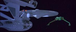 USS Enterprise and Klingon Bird-of-Prey face-off.jpg