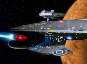 USS Hathaway attacks the Enterprise-D