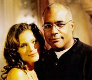 Dawn Stern and Michael Dorn