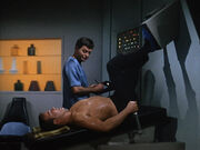 James Kirk undergoes his quarterly physical