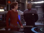 Kira Nerys and Benjamin Sisko, 2374