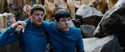 McCoy helps Spock on Altamid