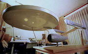 Star Trek Phase II Enterprise studio model ventral view