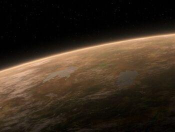 Celtris III from orbit