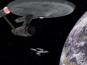 M-11 with orbital traffic