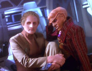Odo and Quark in crashed Rio Grande