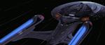 USS Enterprise-E at warp, 2375