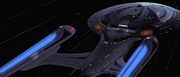 USS Enterprise-E at warp, 2375