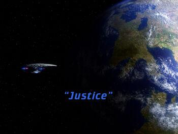 Justice title card